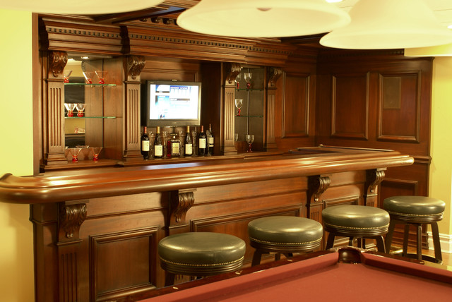Residential Bar Nj Traditional Home Bar Newark By Wl Kitchen Home
