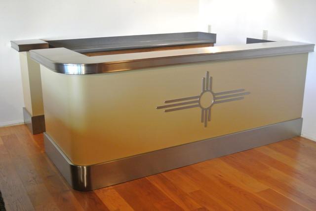 Train Inspired Stainless Steel Bar