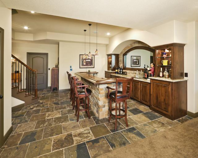 River Cliff Reverse Floor Planmediterranean Home Bar Kansas City