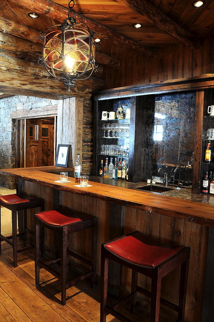Rustic Home Bar