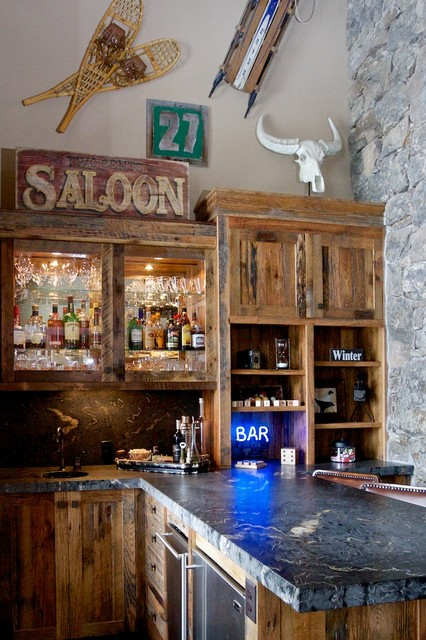 407 BLACKHAWK LAKE DRIVE - SCOZZAFAVE rustic-home-bar