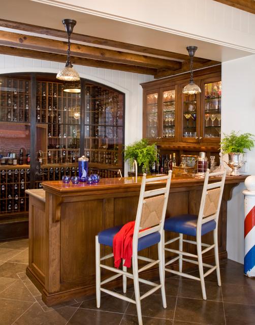 Santa Barbara Dutch Colonial Beach Style Home Bar