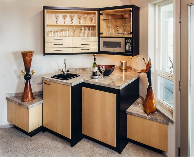 Scenic heights modern bar contemporary home bar seattle by fine wood cabinets Home bar furniture seattle