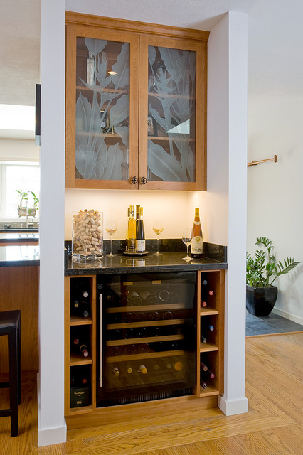 Transitional Home Bar By C U0026 A Builders
