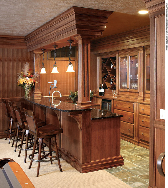 Showplace Cabinets - Living Room traditional-home-bar