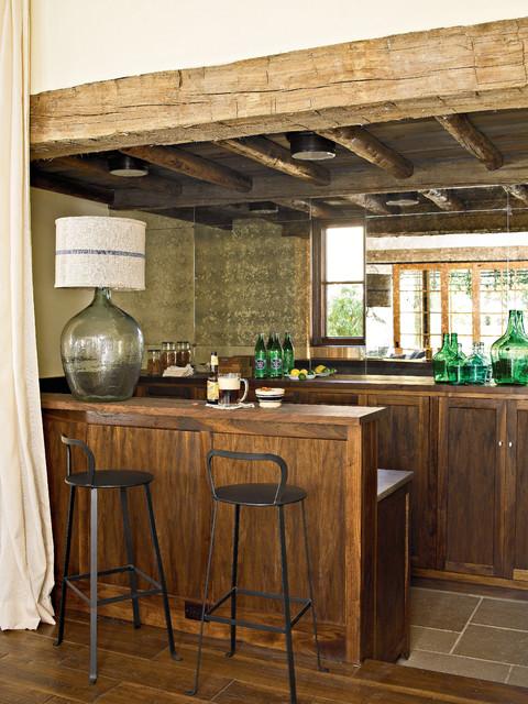 Southern Living Idea House mediterranean-home-bar
