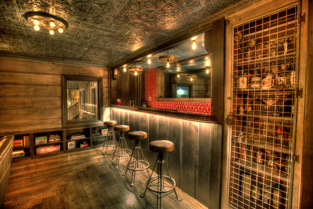 Speakeasy Rustic Home Bar San Francisco By Red Dot