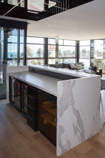 St Kilda Kitchen Bar Laundry Modern Home Bar Melbourne By The Kitchen Design Centre