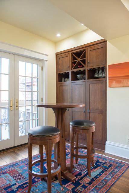 Stickley Inspired Kitchen craftsman-home-bar