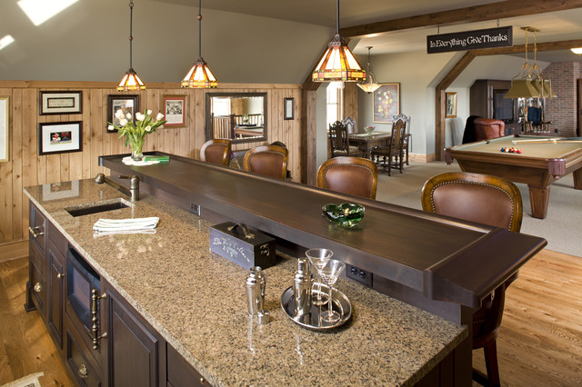 Stillwater   Farmhouse New Home Farmhouse Home Bar