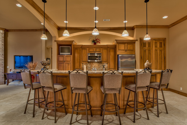 Stunning Newport Landing Home Traditional Home Bar Omaha By Eurowood Cabinets Inc