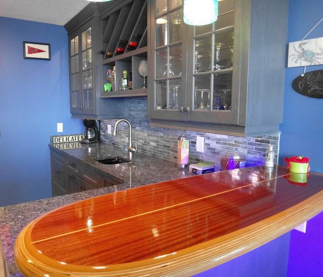 Surf\'s Up Wet Bar - Beach Style - Home Bar - by Boardwalk Builders