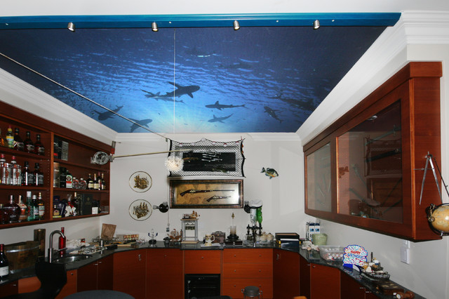Swimming With Sharks In The Man Cave Traditional Home