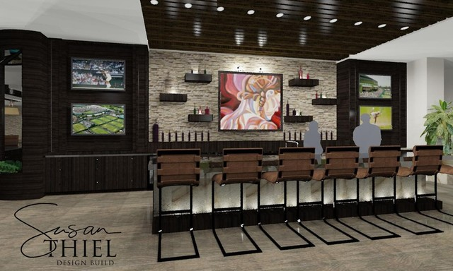 Tennis Club Bar And Lounge Contemporary Home Bar