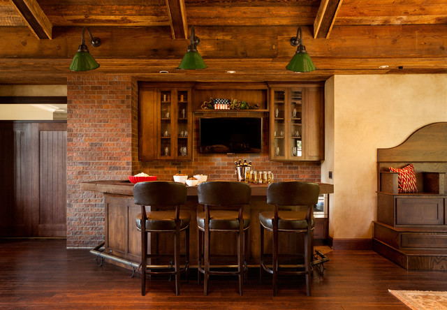 The American Dream Rustic Home Bar
