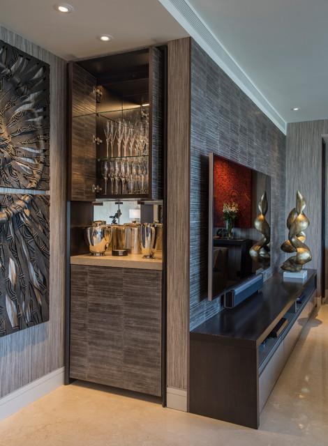 The Art House Contemporary Home Bar London By Folio Design London