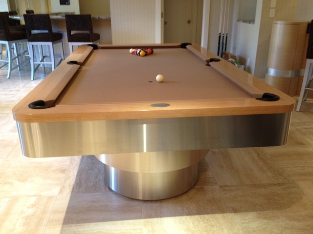 The miami pool table modern basement st louis by mitchell exclusive - Billard table design ...