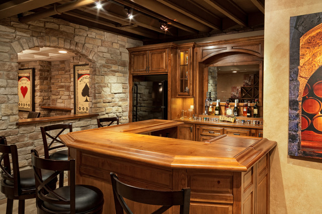 The ultimate bachelor pad rustic home bar chicago by the man card crew - Rustic basement bar designs ...