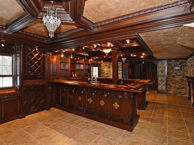 Man Caves For Sale : The ultimate man cave with stunning bar wine storage