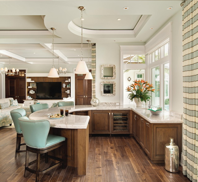 Tampa Kitchen And Bath Gallery: Tranquil & Stunning Seaside With Beautiful Cabinetry