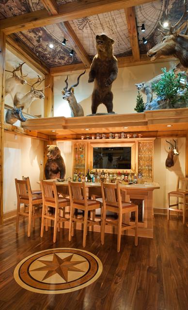 Trophy Room Rustic Home Bar