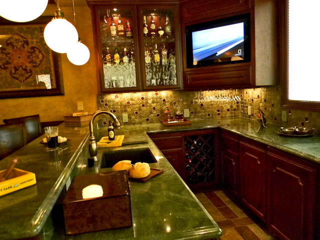 ultimate man cave traditional home bar other by kdesign llc