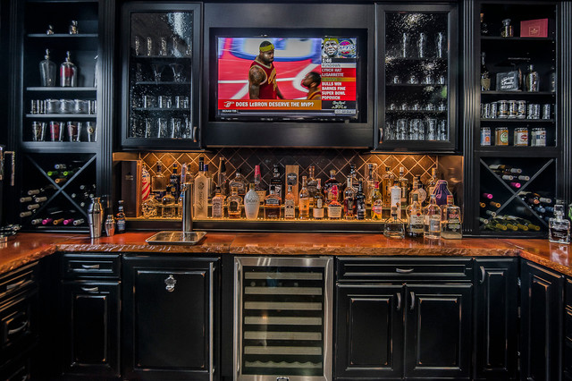 ultimate man cave eclectic home bar columbus by romanelli