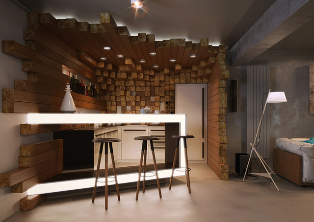 Underground Lounge In A Private House Modern Home Bar