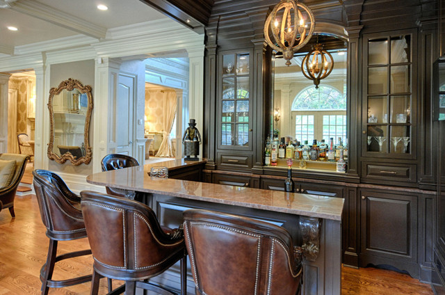Unique Home Bar Designed By Interior Designer Linda Caruso