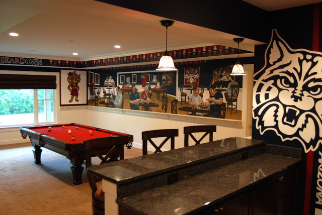 University Of Arizona Sports Bar Themed Mural By Tom Taylor Wow Effects Contemporary Home