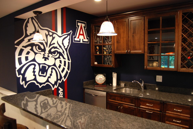 University Of Arizona Sports Bar Themed Mural By Tom Taylor Of Wow Effects  Contemporary Home Part 41