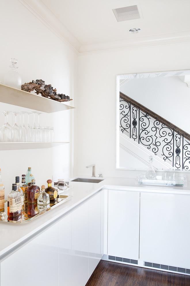 Inspiration for a contemporary home bar remodel in Dallas