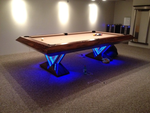 Vue pool table by mitchell exclusive billiard designs contemporary ho - Table billard design ...
