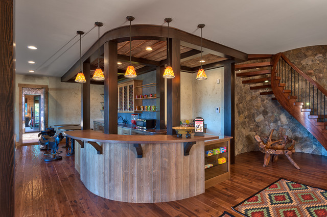 Walnut Cove NC Rustic Mountain Home Rustic Home Bar