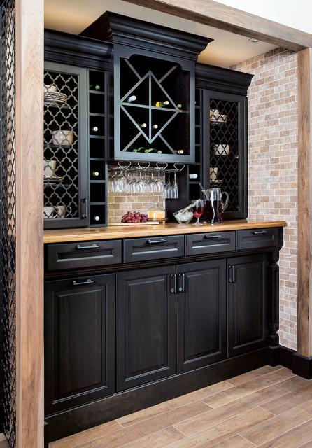 Wellborn Design Gallery traditional-home-bar