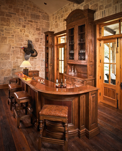 West Texas Traditional Ranch Rustic Home Bar Houston By Osborne Cabinets And Millwork Inc