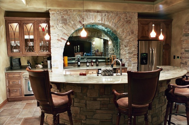 Wet bar - Rustic basement bar designs ...