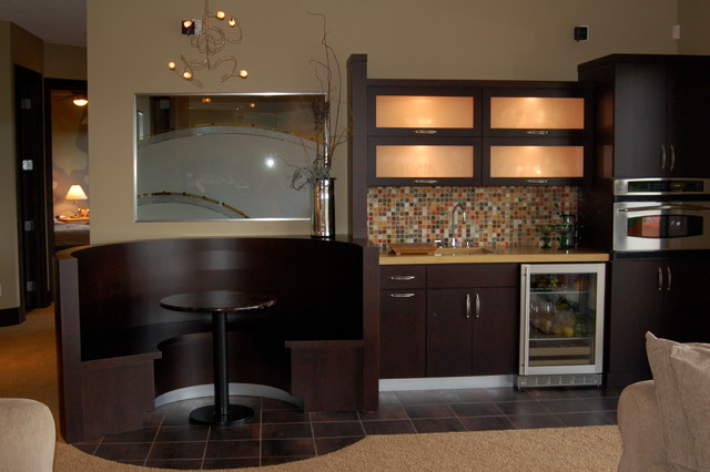 Wet Bar Area Contemporary Home Bar Other Metro By