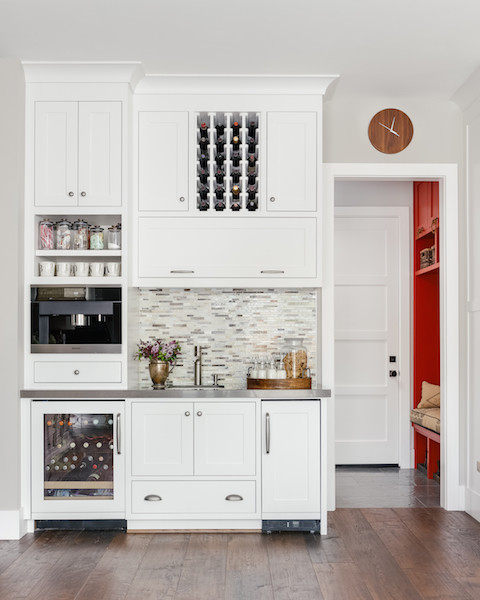 Wet bar installation farmhouse home bar san for Home bar installation