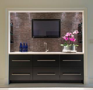 Wet Bar Modern Home Bar Dc Metro By Palindrome Design Llc