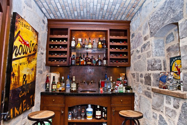 Whiskey Cellar Traditional Home Bar Toronto By Homestead