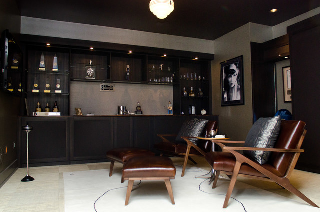 Whiskey Room Transitional Home Bar Cincinnati By