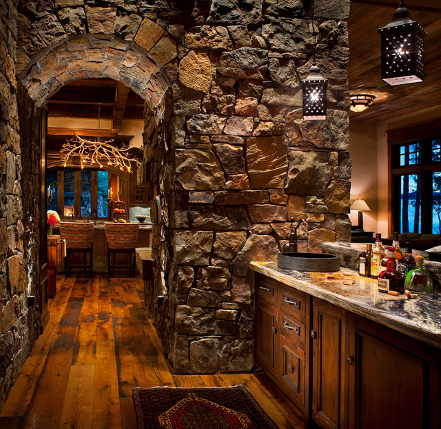 Whitefish Yacht Club Residence Rustic Home Bar Other