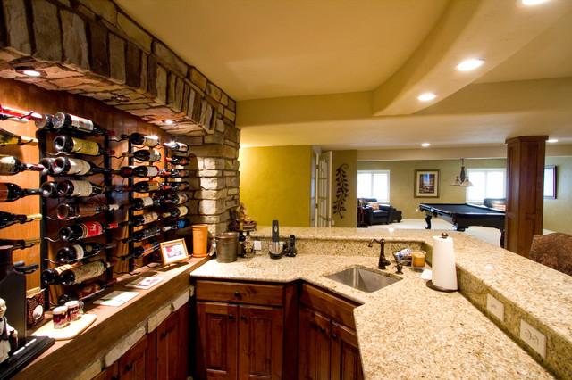 garage heating ideas - Wine Bar Basement Remodel