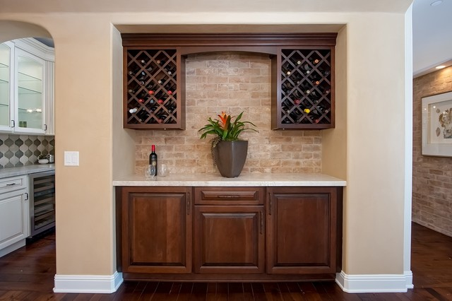 Wine Bar Off Formal Dining Room Mediterranean Home
