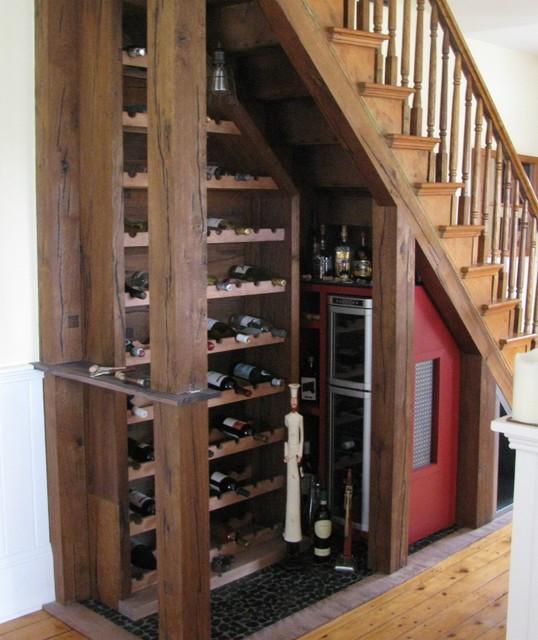 Wine Bar Under Stairs