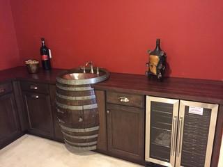 Wine Barrel Wet Bar Rustic Home Bar Baltimore By Stephanie Mcdowell Designer Kenwood Kitchens