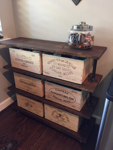 Wine Crate Industrial Style Table Industrial Home Bar