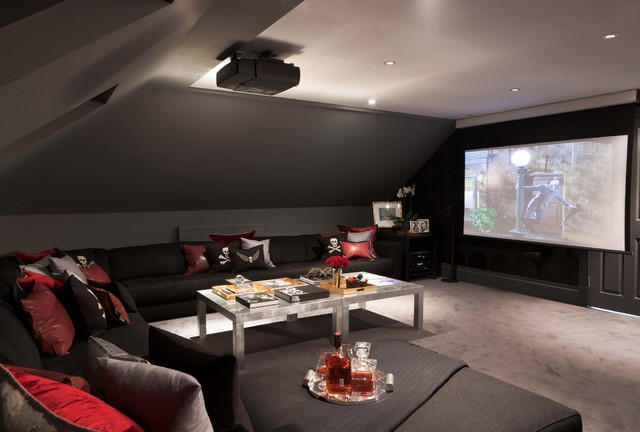 American Dream Modern Home Theater London By