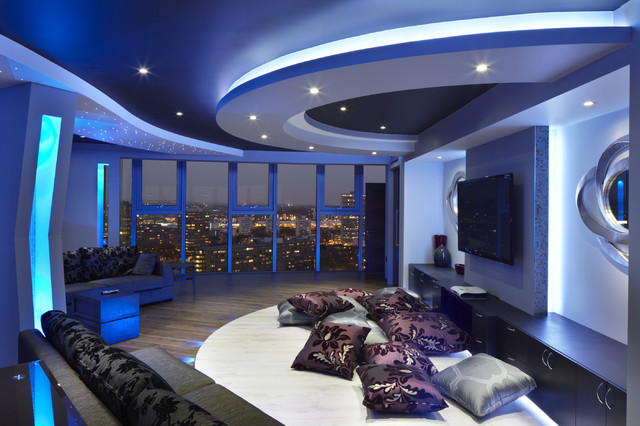 apartment 1601 contemporary-home-theater